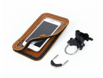 Leather cell phone mount