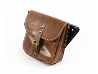 Side leather saddlebag for...
